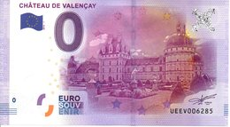 Billet Touristique 0€ Châteauy De Valençay 2016-1 (36) - EURO