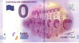Billet Touristique 0€ Château De Chenonceau 2017-1 (37) - EURO