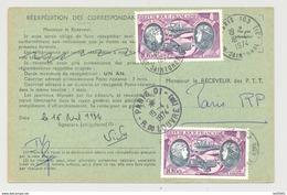 Ordre De Réexpédition Définitif - Cachet Paris 103 16/4/74 - Timbres PA 47 Boucher Hilsz - Postdokumente