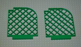 LEGO 2 Clôture Vert Belville Coin Arrondis Ref 6166 12x1x12 - Lego Technic