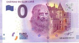 Billet Touristique 0€ Château Du Clos Lucé 2017-1 (37) - EURO