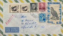 1971 , BRASIL , SOBRE CIRCULADO , FRANQUEO BÁSICA , MUSEU NACIONAL , AVES RAPACES - AGUILA HARPIA - Cartas