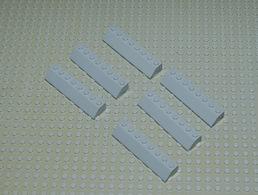 LEGO Lot 6 Slope Brick Ref 4445 45 Degrés 2 X 8 Gris - Lego Technic