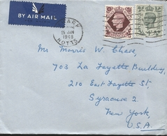 M) 1948,  ENGLAND, BY AIR MAIL, POSTAGE REVENUE, ELEVEN PENCE, CIRCULATED COVER FROM ENGLAND TO USA - Sonstige - Europa