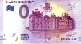 Billet Touristique 0€ Château De Cheverny 2017-2 (41) - EURO
