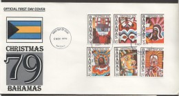 1979 Chrsitmas Issue Goombay Carnival Costumes  Complete Set On Single FDC - Bahamas (1973-...)