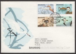 1981  Ducks  - Complete Set On Single FDC - Bahamas (1973-...)