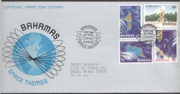 1981  Space: Tracking Station And Satellite Views Of The Bahamas  - Complete Set On Single FDC - Bahamas (1973-...)