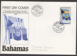 1984  Flags Of Bahamas And Caribbean Community  -  FDC - Bahamas (1973-...)
