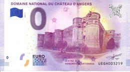 Billet Touristique 0€ Domaine National Du Château D'Angers 2018-1 (49) - EURO