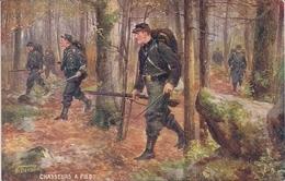 CPA Illustrateur Beraud  Raphael Tuck Les Armes Françaises Chasseurs à Pied Série 981 N° 4 - Beraud