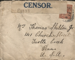 M) 1916,  ENGLAND, CIRCULATED BY CENSOR, FROM ENGLAND TO USA. - Europe (Other)