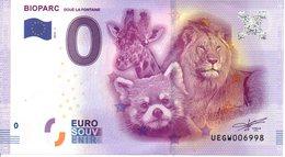 Billet Touristique 0€ Bioparc - Doué La Fontaine 2016-1 (49) - EURO