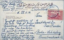 1914 , TURQUIA - IMPERIO , INTERESANTE TARJETA POSTAL CIRCULADA A BERLIN. - 1858-1921 Impero Ottomano