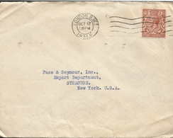 M) 1931, ENGLAND, THEREE HALFPENCE, CIRCULATED COVER FROM ENGLAND TO USA. - Europe (Other)