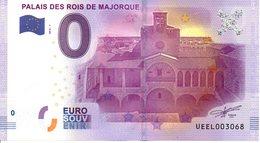 Billet Touristique 0€ Palais Des Rois De Majorque 2016-1 (66) - EURO