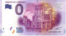 Billet Touristique 0€ Abbaye De Jumièges 2016-1 (76) - EURO