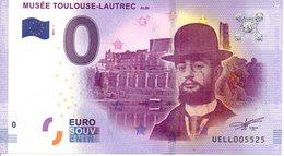 Billet Touristique 0€ Musée Toulouse-Lautrec - Albi 2017-1 (81) - EURO