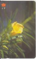 OMAN(GPT) - Flower, Yellow Oleander, CN : 33OMNM/B(0 With Barred), 07/97, Used - Oman