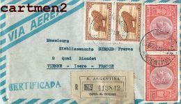 REGISTERED LETTER BUENOS-AIRES EMILE DUMOULIN LETTRE RECOMMANDE ARGENTINA ARGENTINE STAMP - Argentina