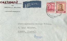 NOUVELLE-ZEALANDE NEW-ZELAND LEGATION DE FRANCE ZEALAND LETTER STAMP LETTRE OCEANIE - Briefe U. Dokumente