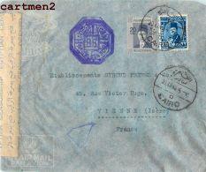 EGYPTE CAIRO OPENED BY CENSOR RAPHAEL ABDULAFIA CACHET LE CAIRE EGYPT AFRIQUE STAMP LETTRE MARCOPHILIE - Storia Postale