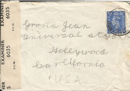 M) 1946, GREAT BRITAIN, POSTAGE REVENUE 2 1/2 POSTAL STAMP IN BLUE, CIRCULATED COVER FROM GREAT BRITISH, TO USA. - Sonstige - Europa