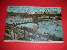 Hungary,Budapest,Kettenbrucke,Danube River,boats Magazines,depot,vintage Postcard - Hungary
