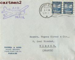KARACHI RASHID § SONS PAKISTAN INDE INDIA TIMBRE STAMP PHILATELIE MARCOPHILIE - Pakistan