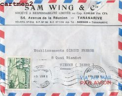 MADAGASCAR SAM WING § COMPAGNIE AVENUE DE LA REUNION  TANANARIVE PUBLICITE MARCOPHILIE AFRIQUE - Madagascar