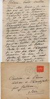VP12.223 - Lettre De Mme La Comtesse De LEUSSE à FILAIN Pour Mme La Ctsse De PERINI Au Château De Champfort Près JALLIEU - Manuscripts