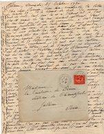 VP12.224 - Lettre De Mme La Comtesse De LEUSSE à FILAIN Pour Mme La Ctsse De PERINI Au Château De Champfort Près JALLIEU - Manuscripts