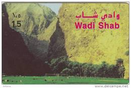 OMAN - Wadi Shab, Alpha Prepaid Card RO 1.5, Used - Oman