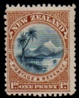 New Zealand 1898 1d Mount Ruapehu And Taupo Perf 14, 1 Value MH - 1855-1907 Crown Colony