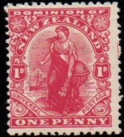 New Zealand 1909 1d, Perf 14*15  - MH Watermark Traced On Back  > - Nuovi