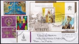 """Argentina - Lettre - S.S. Pape Jean-Paul II - Place Saint-Pierre, Vatican. Drapeau Et Emblème """"Totus Tuus"""" - Papes"""