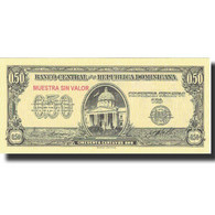 Billet, Dominican Republic, 50 Centavos Oro, Undated (1961), Specimen, KM:90s - Dominicana
