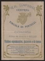 Portugal - Coimbra - Preçário 1904 - Tabela Preços - Real Companhia Central Vinicola De Portugal - Vinhos - Price List - Vecchi Documenti