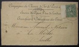 1904 Compagnie Des Chemins De Fer D'Orléans , Joli Document Pour La Flèche (Sarthe) - Marcophilie (Lettres)