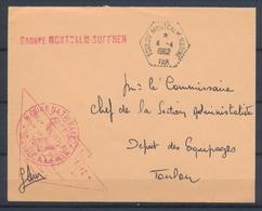1962 Env. CAD TOULON-MONTCALM-MARINE + Griffe MONTCALM-SUFFREN X2774 - Postmark Collection (Covers)