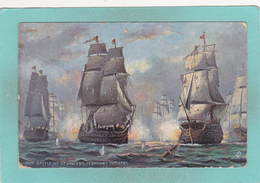 Old Small Raphael Tuck`s Oilette Postcard Of Nelson Centenary,The Battle Of St.Vincent,V60. - United Kingdom