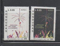 Honduras 1992 MNH Air Set 50th Anniversary Agriculture Scott C853-854 - Honduras