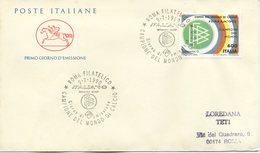 ITALIA - FDC  CAVALLINO 1990 - GERMANIA CAMPIONE DEL MONDO - CALCIO - SPORT - F.D.C.