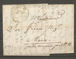 1835 Lettre CAD Type 12 Mulhausen HAUT-RHIN(66) Superbe X1592 - Storia Postale
