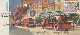 Billet De Loterie Nationale, Pupilles Des Sapeurs Pompiers , 1958, (timbre 1958, 27ème Tranche) - Billets De Loterie