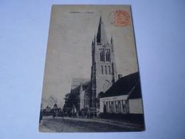 Jabbeke // De Kerk - Eglise (Gemeentehuis St.Hubert - Volk) Gelopen 19?? Zegel Beeldzijde - Jabbeke