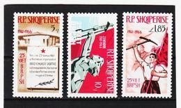 OST1489 ALBANIEN 1966  MICHL 1121/23 ** Postfrischer SATZ SIEHE ABBILDUNG - Albanien