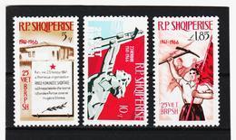 OST1490 ALBANIEN 1966  MICHL 1121/23 ** Postfrischer SATZ SIEHE ABBILDUNG - Albanien