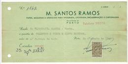 Receipt * Portugal * 1947 * Porto * M. Santos Ramos * Holed - Portugal