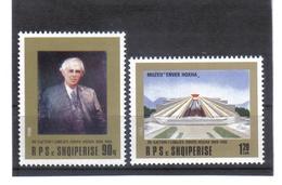 OST1375 ALBANIEN 1988  MICHL 2379/80 ** Postfrischer SATZ SIEHE ABBILDUNG - Albanien